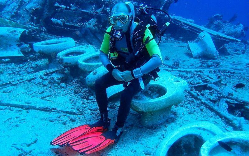 djl blog diver on toilet